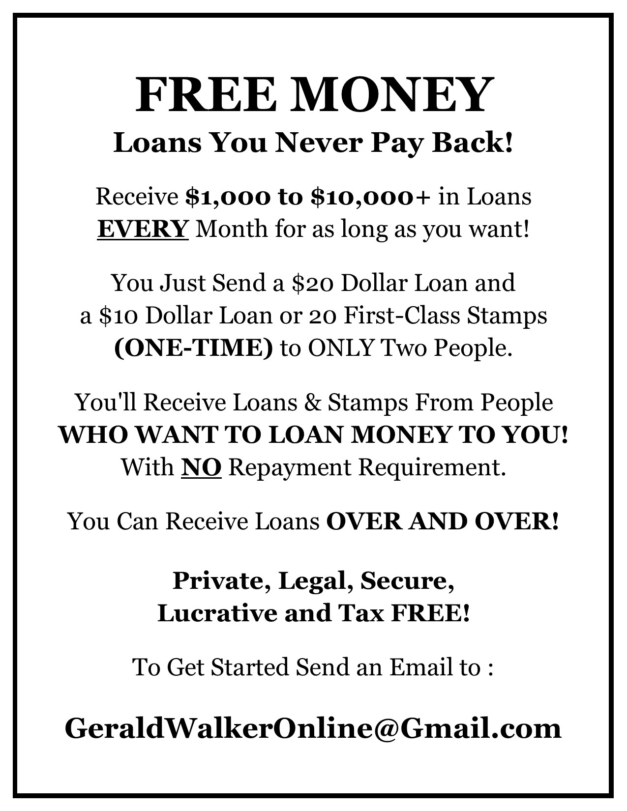 Loans You Never Pay Back